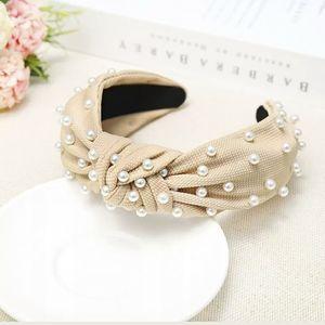 Embellished turban pearl headband